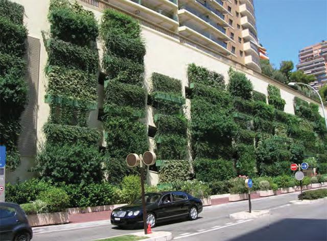 Ejemplo de jardín vertical urbano