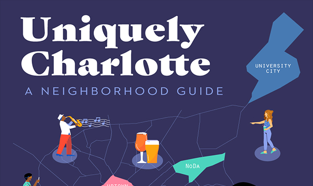 Charlotte a unique Charlotte Town Center Marriott neighborhood guide #infographic