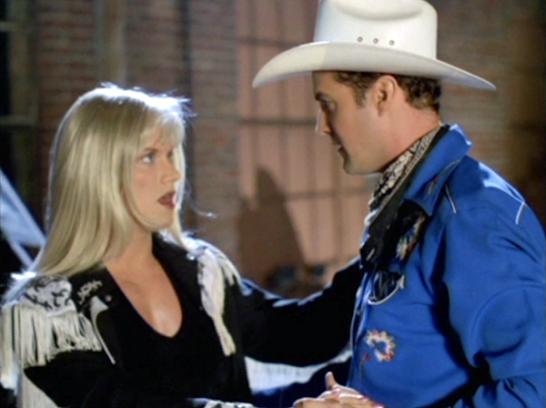 Craig Olsen femulating in the 2012 film Pop Kowboy.