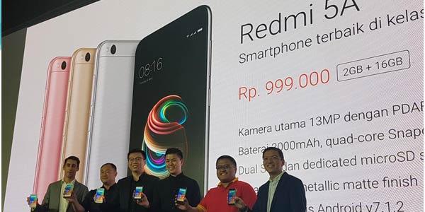 Murmer!! Harga Resmi Xiaomi Redmi 5A di Indonesia
