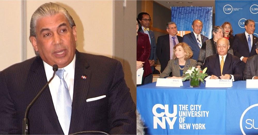 Cónsul Castillo resalta inversión del Gobierno en educación durante firma de acuerdo en Nueva York