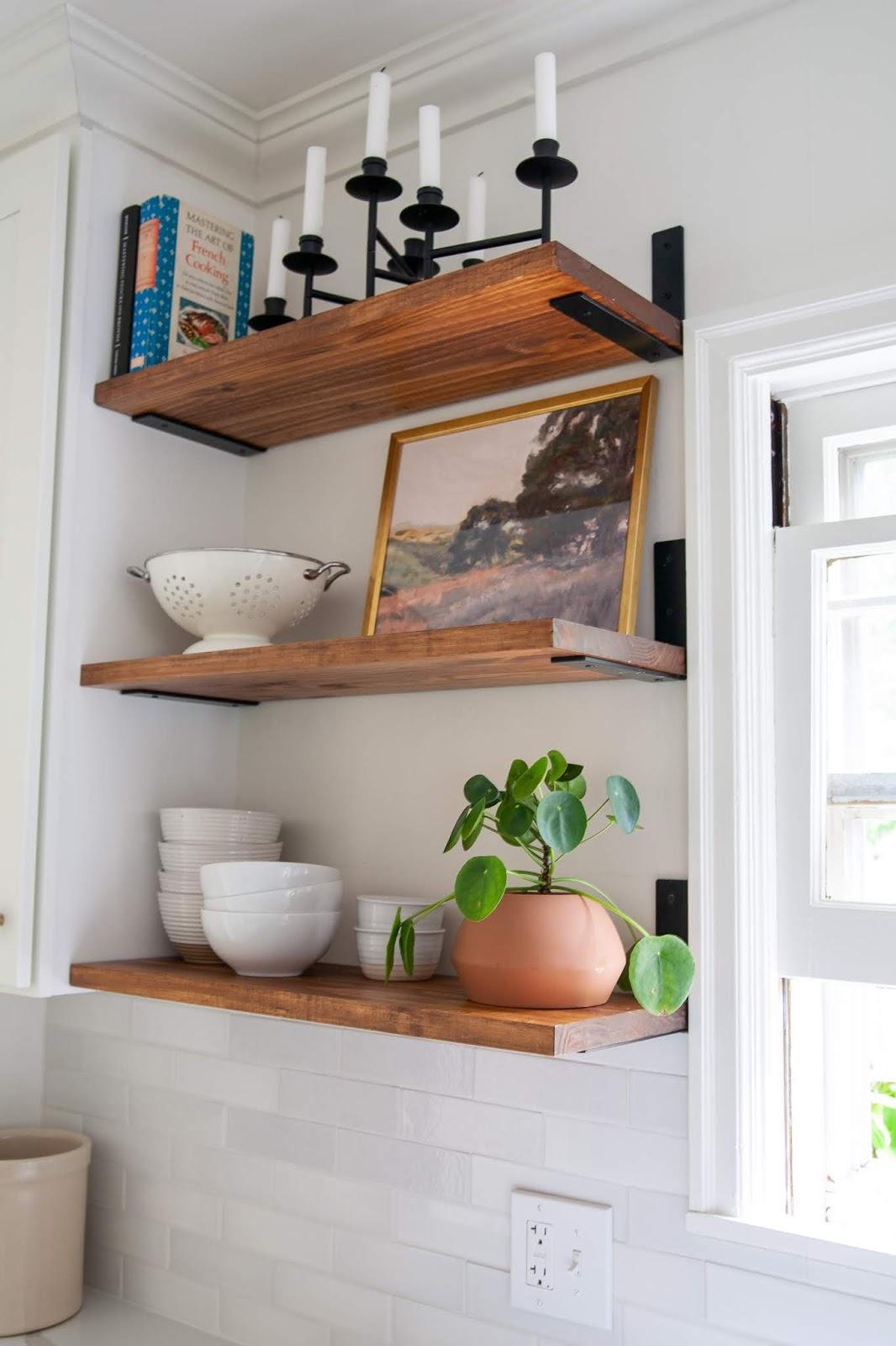 Diy Budget Friendly Floating Look Open Shelves Create Enjoy