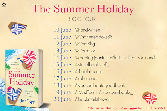 The Summer Holiday by Jo Clegg blog tour banner