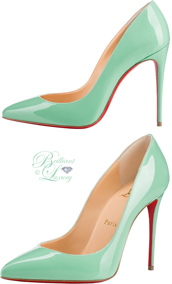 Brilliant Luxury ♦ Christian Louboutin Pigalle Follies superfine stiletto heels in opal