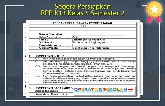 RPP K13 Kelas 5 Semester 2
