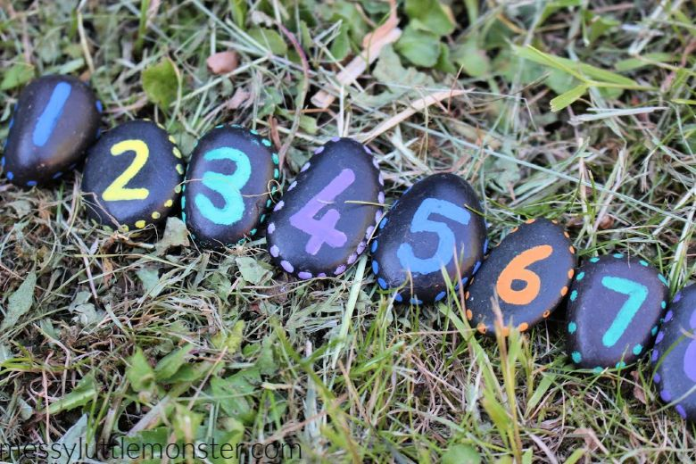 number rock painting ideas