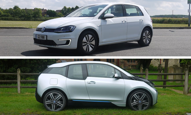 BMW i3 versus VW e-Golf