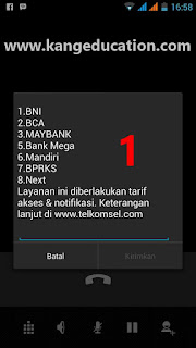 USSD banking telkomsel
