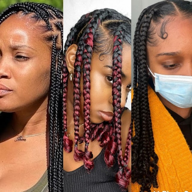 20+ Cute Knotless Braids Hairstyles 2021: Fabulous Knotless Box Braids Styles Pictures.