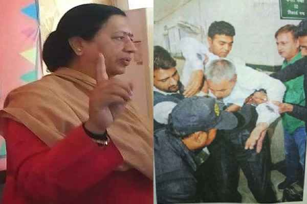 badkhal-mla-seema-trikha-raid-in-bk-hospital-3-people-drinking-wine