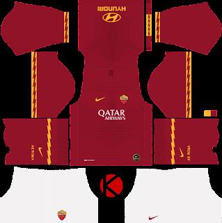 Yang akan saya share kali ini adalah termasuk kedalam home kits AS Roma 2019/2020 Kit - Dream League Soccer Kits