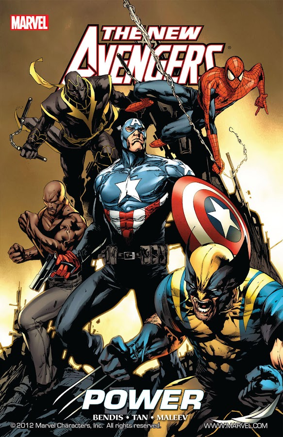 new avengers power dark reign marvel comics brian michael bendis billy tan 2009 captain america bucky barnes ronin clint barton spider man peter parker wolverine logan luke cage
