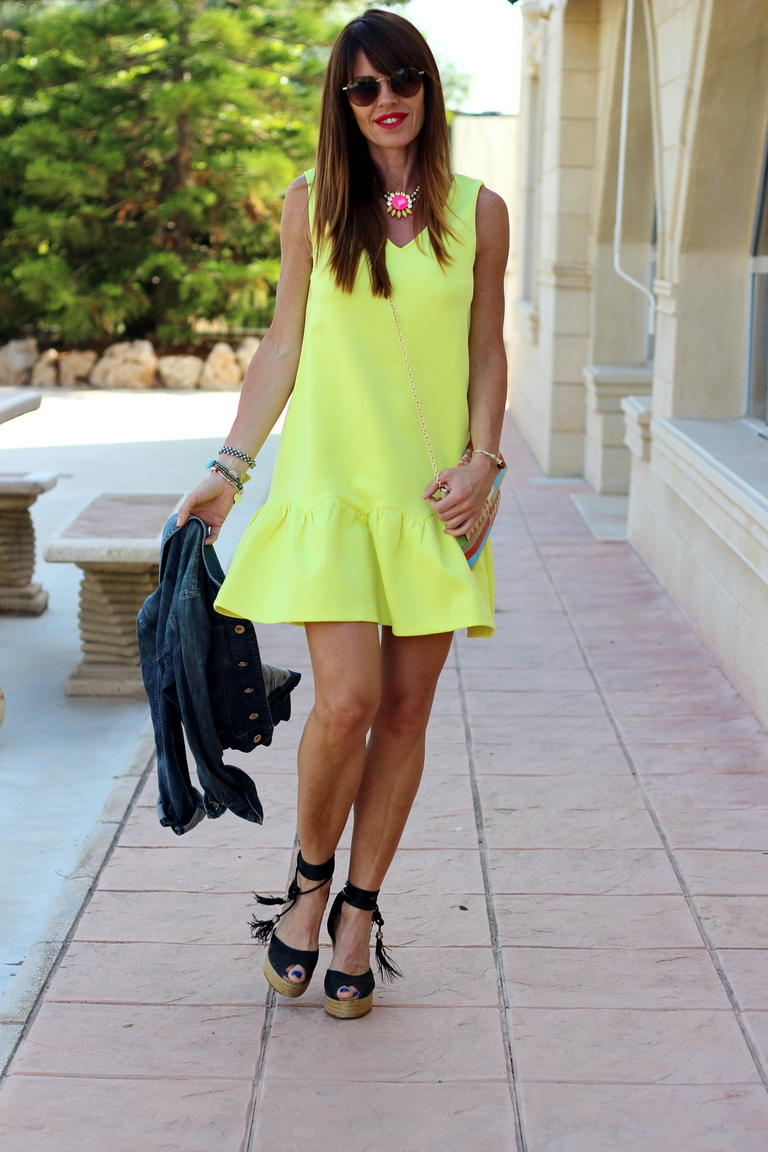 Shein, Yellow dress, Tendencias 2016, fashionblogger, bbeautifulbymaria