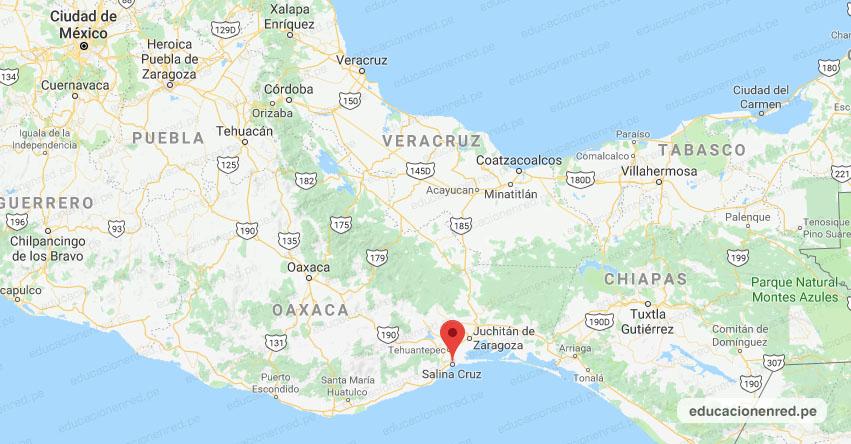 Temblor en México de Magnitud 4.1 (Hoy Sábado 16 Noviembre 2019) Sismo - Epicentro - Salina Cruz - Oaxaca - OAX. - SSN - www.ssn.unam.mx