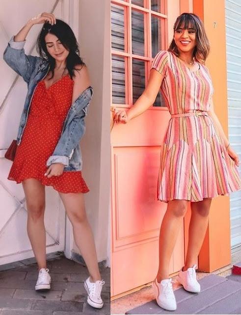 6 combinações de looks para usar em 2021, vestido com tênis Jéssica Flores, Maanuh Scotá