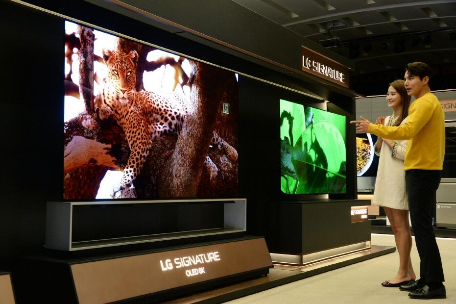 LG전자, CES 2020에서 '알파9 3세대' 탑재 8K TV 공개