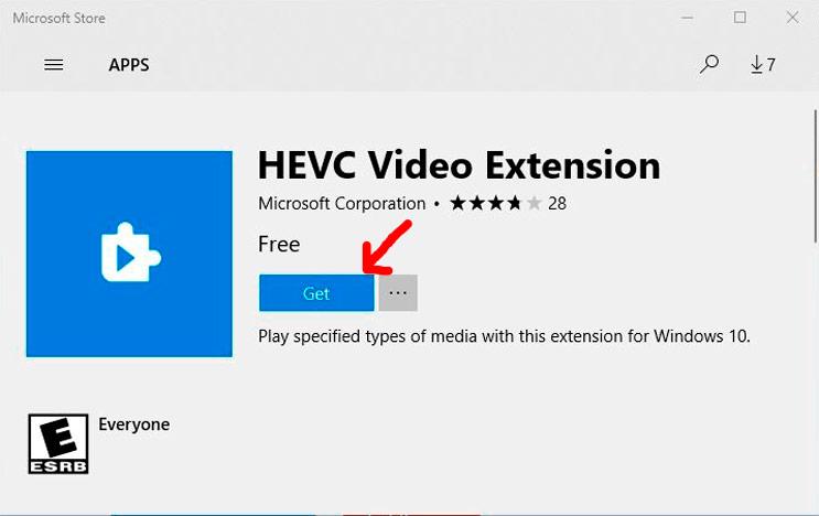 Como instalar Codec HEVC H.265 Windows 10