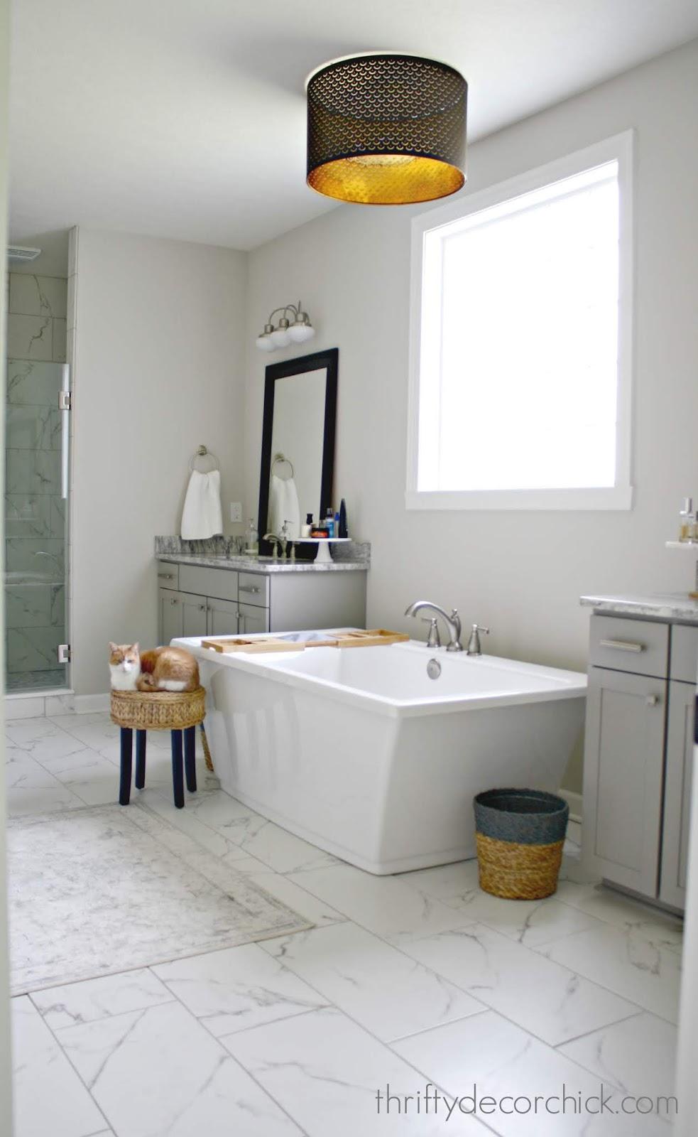 Faux marble 12x24 tile