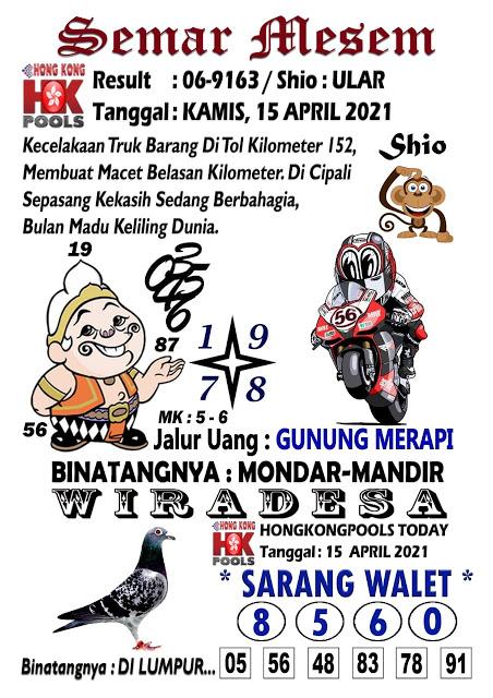 Syair Semar Mesem HK Kamis 15 April 2021