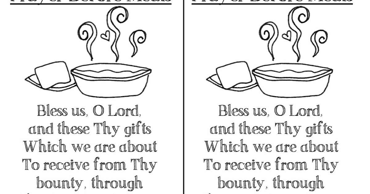 Look to Him and be Radiant: Before and After Meals Prayer ...
