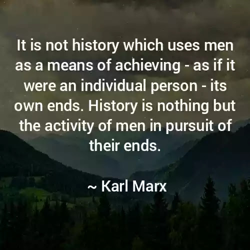 karl marx history quote