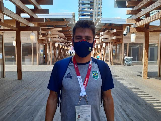 João Victor Oliva na vila olímpica