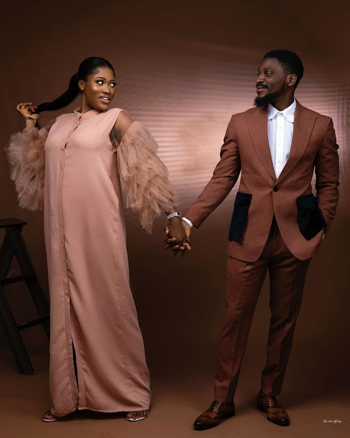 I prayed and you came into my life-Tobi Bakare,says as he shares more Pre-wedding photos of him and his fiancee