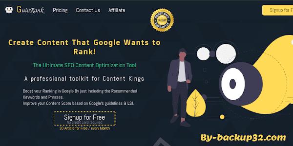 تصدر نتائج البحث على جوجل باستخدام افضل الكلمات المفتاحية في محركات البحث عن طريق اداة Guin Rank