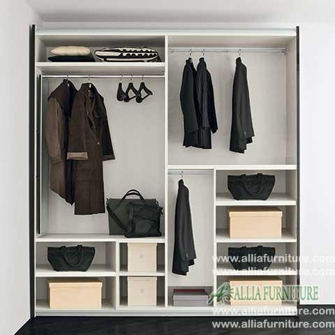 lemari pakaian minimalis 2 pintu liniear
