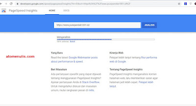 Cara Cek Kecepatan Blog di Google Page Speed Insights