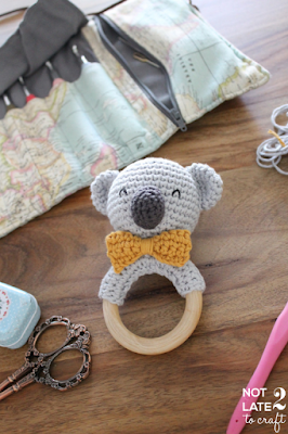 Not 2 late to craft: Mossegador Coala / Koala teether