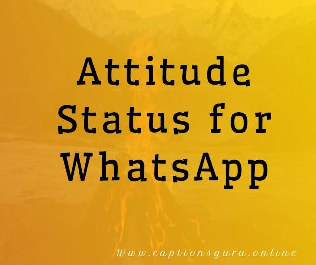 500+ Attitude Status for WhatsApp