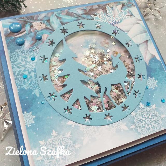 kartka niebieska na święta