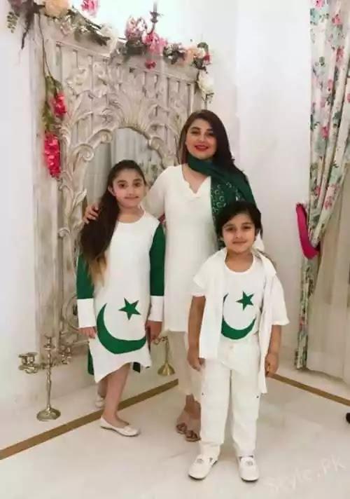 Beautiful Pictures of Javeria Saud And Saud Qasmi Celebrating Independence Day
