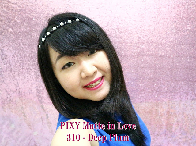 PIXY Matte in Love Lipstick 310 Deep Plum