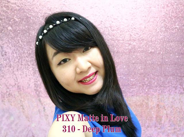 PIXY Matte in Love Lipstick 310 Deep Plum