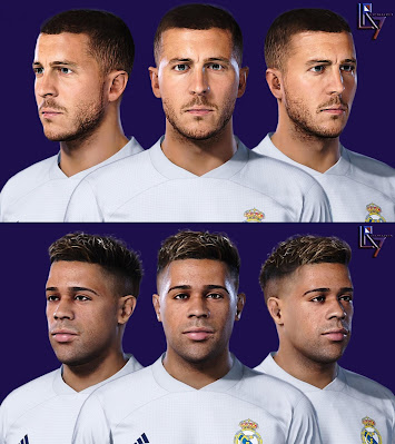 PES 2021 Faces Eden Hazard & Mariano Diaz by LR7