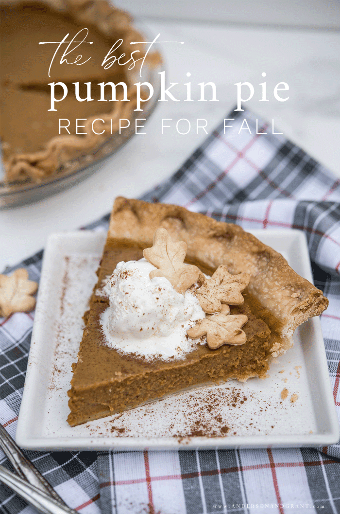 The best pumpkin pie recipe for fall