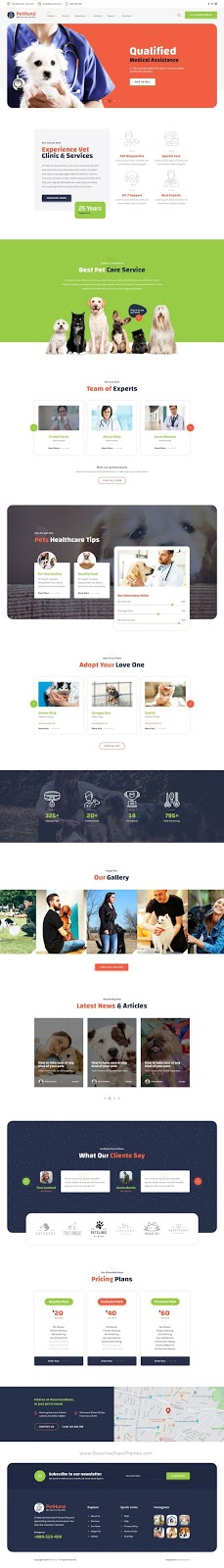 Pet Shop and Veterinary PSD Template