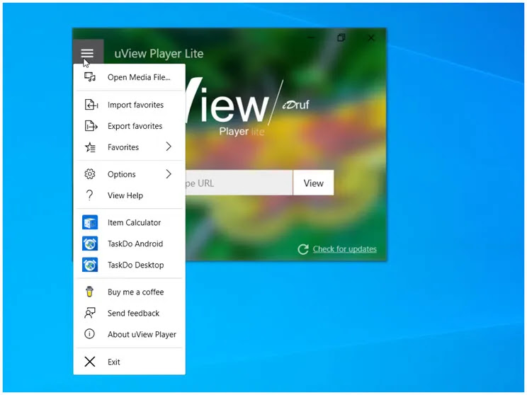 Univer Player : Παρακολουθήστε βίντεο  πάνω από άλλα παράθυρα