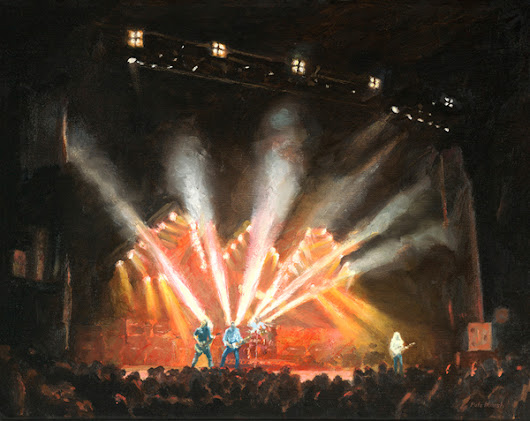 Rick Parfitt oil painting