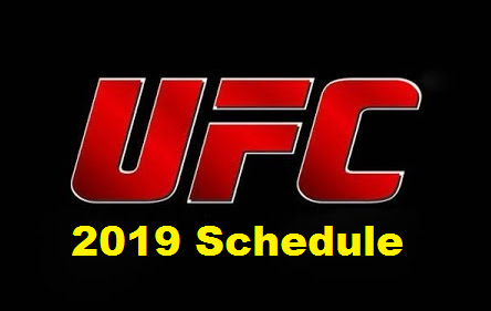 UFC revealed the second quarter schedule dates 2019 from April to June.