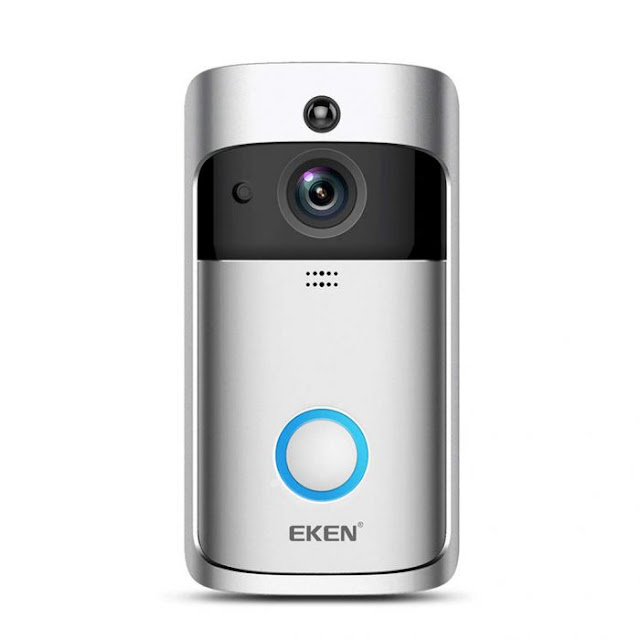 $29.99 / €25.75 for EKEN 720P HD WiFiReal-time Video Doorbell Support Two-way Audio PIR Motion Detection