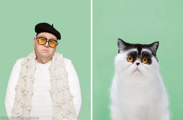 Similar Pictures of Cats and their Owners