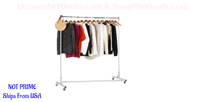 30% OFF KINGSO Rolling Garment Rack