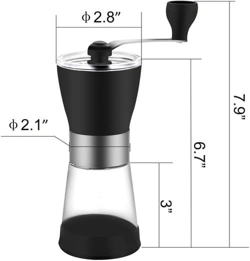 CUMCITIN Adjustable Manual Coffee Grinder
