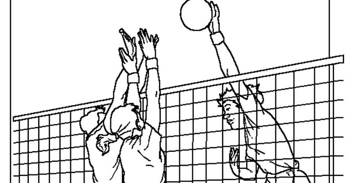 Coloring Amp Activity Pages Volleyball 3 Players At The