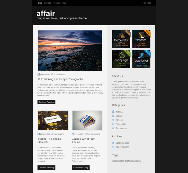 Affair Wordpress Theme Free Download by ThemeForest.