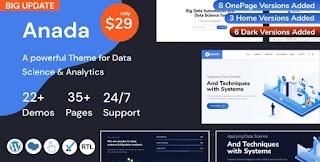 Anada Data Science AndAnalytics Saas Responsive WordPress Themes