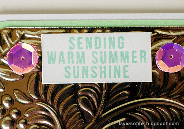 Layers of ink - Metallic Tropical card Tutorial by Anna-Karin Evaldsson.